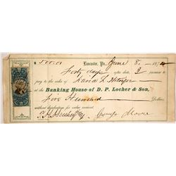 Incorrect Usage of a Revenue Stamp at the Banking House of D. P. Locher & Son