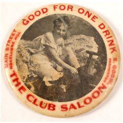 The Club Saloon GF Mirror, Mokelumne Hill, California
