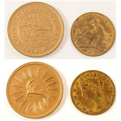 Two Gold Rush Era Tokens