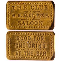The Club Saloon Token, Walden, Colorado