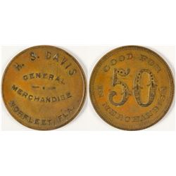 H. S. Davis 50c Token, Norfleet, Florida