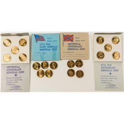 Civil War General Token/Medal Sets