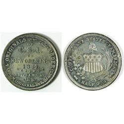 Confederate Half Dollar Token struck by Scott