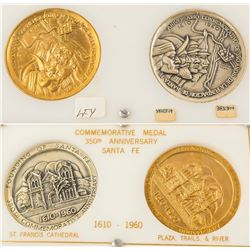 350th Anniversary of the Founding of Santa Fe Medals