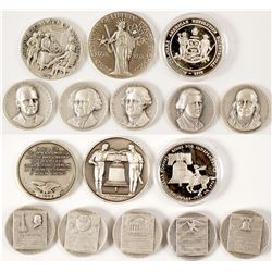 Declaration of Independence Silver Medals