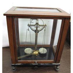 Gesetz Glass Case Assay Balance