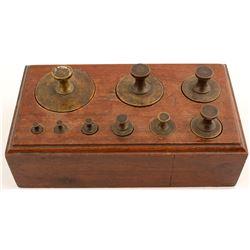 Brass Scale Weight Set