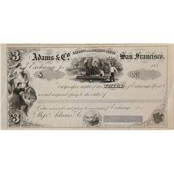 Rare Adams Company Third of Exchange