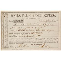 Wells Fargo Gold Dust Receipt for the Auburn Canal Company
