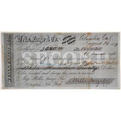 Wells Fargo Second of Exchange, Columbia, CA 1859