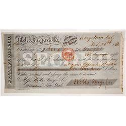 Wells Fargo Second of Exchange, Georgetown, CA, 1862