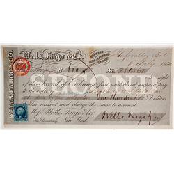 Wells Fargo Second of Exchange, Grass Valley, CA 1864