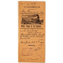 Wells Fargo Commission Envelope for Mariposa Gold Dust