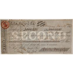 Wells Fargo Second of Exchange, Nevada City, CA 1862