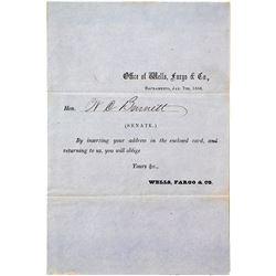 Rare Wells Fargo Cover Card