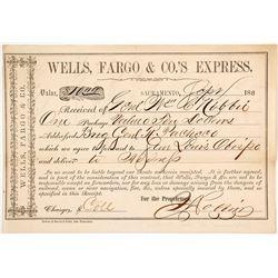 Wells Fargo Way Bill between Two Generals