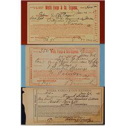 Three San Francisco Wells Fargo Receipts