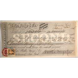 Wells Fargo Second of Exchange, Sonora, CA 1865