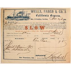 Wells Fargo California Express for Confederate Intercepted Steamer
