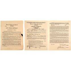 Rare Wells Fargo Livestock Contract