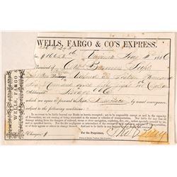 Wells Fargo & Co. Express Bullion Receipt for Savage Mine, 1866