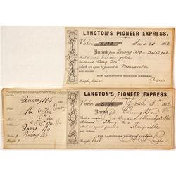 Langton's Pioneer Express, 1862, Quong Wo Receipts