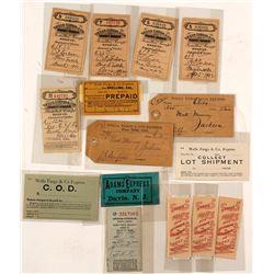 Fifteen Small Express Labels, etc.