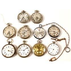 10 Vintage Men's Pocket Watches