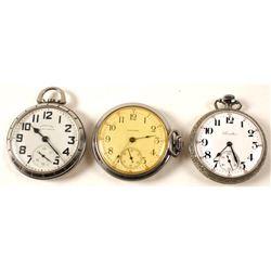 3 Hamilton Men's Open Face Watches