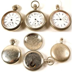 Rare Men's Open Face Pocket Watches