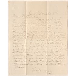 Cerro Colorado, Arizona Letter from E.B. Gage to Tucson Assayer