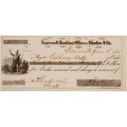 Rhodes & Co. Express & Banking Office Check Signed by FW Blake (ingots)
