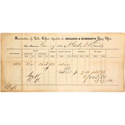 Kellogg & Humbert Assay Office, Gold Bullion, 1858, Non-Pictorial Form