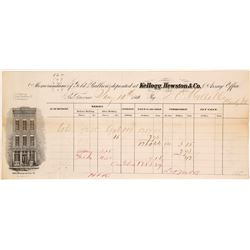 Kellogg & Humbert Assay Office, Gold Bullion Memorandum, 1861, DO Mills