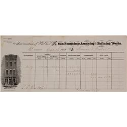San Francisco Assaying & Refining Works Memorandum, 1869