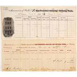 San Francisco Assaying & Refining Works Memorandums, 1868 & 1869
