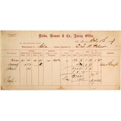 Riehn, Hemme & Co. Assay Office Memorandum, 1867, CTH Palmer