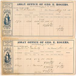 Two Geo. E. Rogers Assay Memorandums, 1868