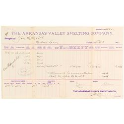 Arkansas Valley Smelting Co. Assay Report, Leadville
