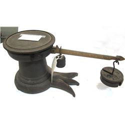 Antique Cast-iron Scale with Hanging Weights