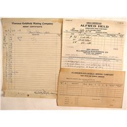 Goldfield, Nevada Assay Collection, 1909-1913