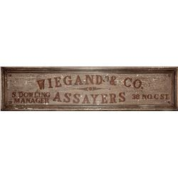 Iconic Comstock Assayer, Original Wiegand & Company Sign