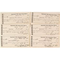 Six Gould & Curry Assay Receipts for Six Different Mills