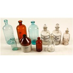10 Assay Lab Chemical Bottles