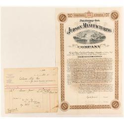 Judson Dynamite & Powder Company Billhead and Bond