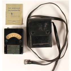 Hercules Ohmeter Galvanometer with Leather Case
