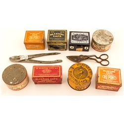 Collection of blasting tins and related devices
