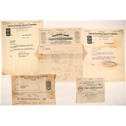 Underground Lighting and Assay Equipment Letterheads and Billheads (8)