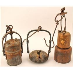 Three Foreign Underground Mining Lamps
