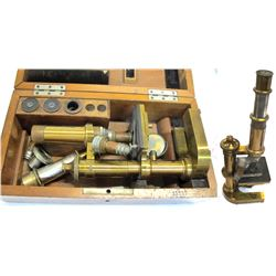 Antique Microscope in Original Wood Box